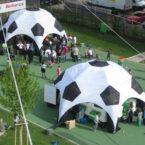 Aufblasbare Fussball Pavillons leihen