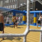 Beach-Volleyball-Feld zum mieten