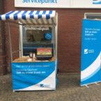 Hot Dogs im Marktstand mit Kundenbranding mieten