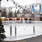 Winterliche Dekoration zur Eisbahn mieten