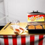 Imbissstand mit Hot Dog Maschine Mieten