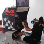 Virtual Reality Rennsimulator mieten