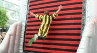 Aufblasbare Klettwand mit Trampolin