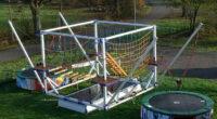KidsCube Duo Jump - Hochseilklettergarten mit Bungee Trampolinen
