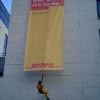 Banner Präsentation via Abseil-Stuntman mieten