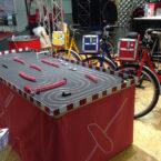 Fahrrad-Rennbahn mit Branding mieten