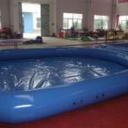 Blauer Pool 5.5 x 5.5m aufblasbar