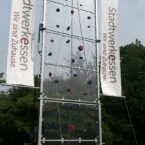 Kletterwand mit Kundenwerbung mieten