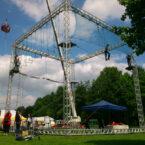 Hochseilgarten für Events Verleih