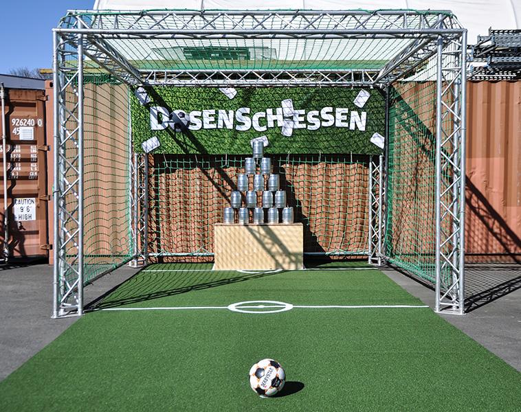 Dosenschießen Soccertool mieten