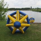 Wasserlaufrad am See