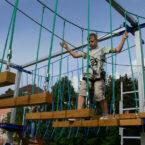 kinder kletter hochseilgarten trampolin