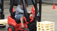 Gabelstaplerfahren für Kinder Verleih