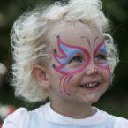 Kinderschminken Eventaktion mieten - Motiv Schmetterling