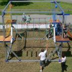 Mobiler Klettergarten für Kinder, max. 70kg
