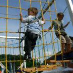 Mobiler Kletterpark für Kinderevents mieten