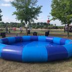 Blauer Pool 7 x 7m aufblasbar mieten