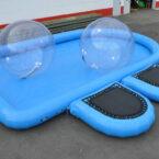Blauer Pool 9 x 5.5m aufblasbar