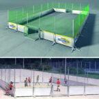 Soccer Court mit Asphaltboden