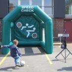 speed kick schuss geschwindigkeit mieten