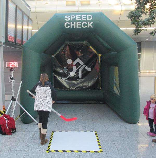 Geschwindigkeitsmesser mieten - Speed Check Eishockey