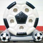 spinning ball drehende fussball torwand