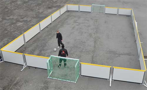 Image result for concrete soccer court